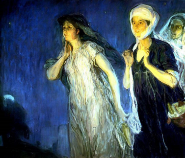 The Three Marys at the Tomb Resurrection Morning, Henry Ossawa Tanner